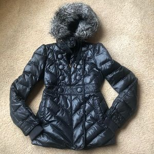 juicy couture puffer long jacket